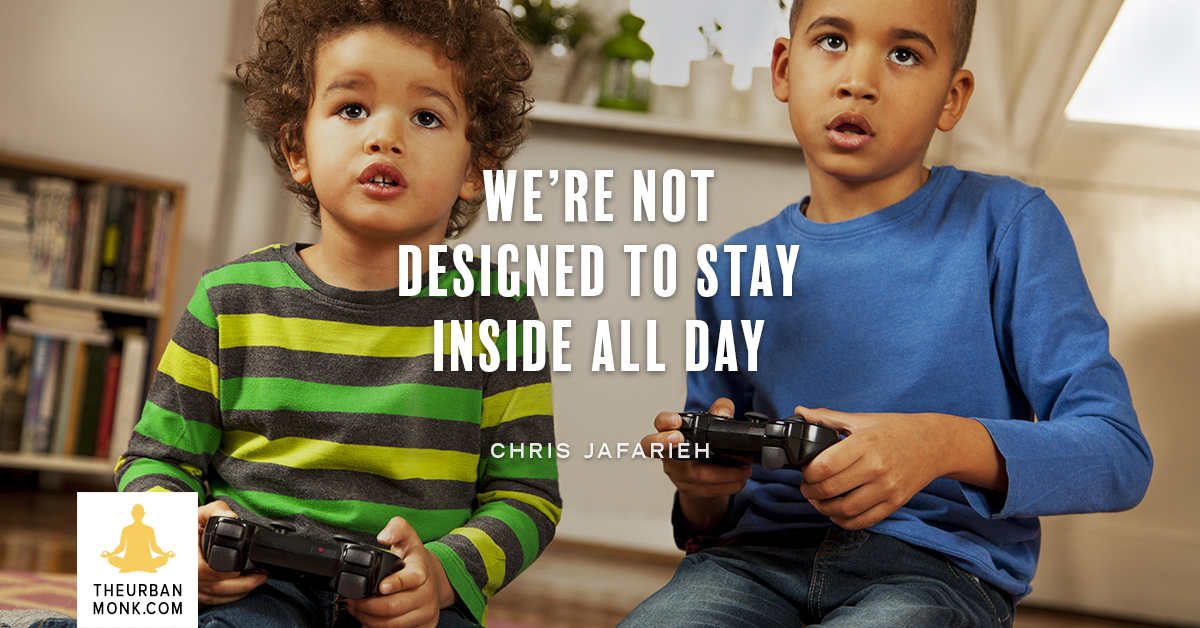We're Not Designed To Stay Inside All Day -Chris Jafarieh (@BlaqkDG) via @PedramShojai