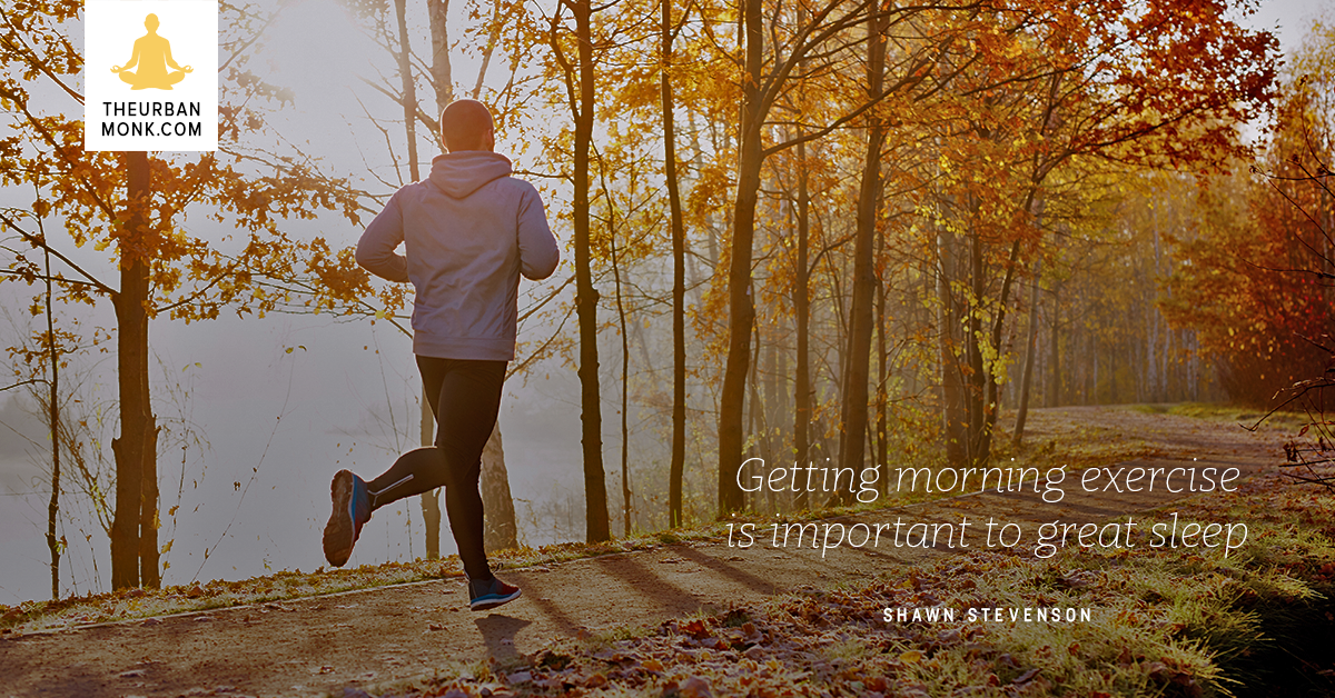Getting Morning Exercise Is important To Great Sleep - @ShawnModel via @PedramShojai